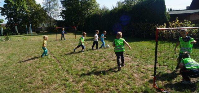 Mecz piłki nożnej i inne sposoby na spędzenie czasu w ogrodzie.